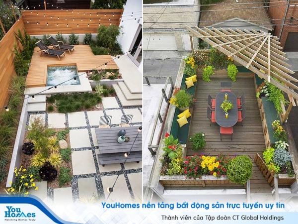 10 Ý tưởng thiết kế sân thượng đẹp cho nhà phố hiện đại